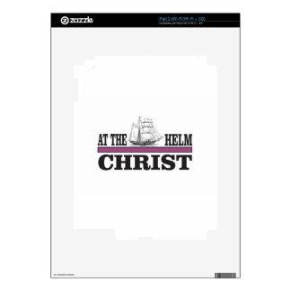 Cristo púrpura en el timón skin para el iPad 2