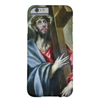 Cristo que abrocha la cruz, 1600-10 (aceite en funda barely there iPhone 6