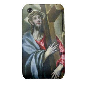 Cristo que abrocha la cruz, 1600-10 (aceite en iPhone 3 Case-Mate cobertura