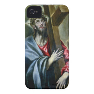 Cristo que abrocha la cruz, 1600-10 (aceite en iPhone 4 cárcasa