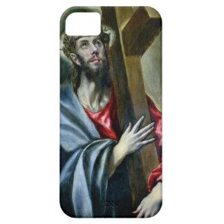 Cristo que abrocha la cruz, 1600-10 (aceite en iPhone 5 carcasa