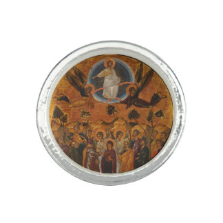 Cristo que asciende en cielo anillo