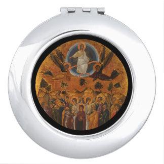 Cristo que asciende en cielo espejos de viaje