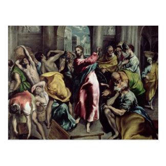 Cristo que conduce a los comerciantes del templo postal