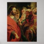 Cristo que da instrucciones Nicodemus Póster