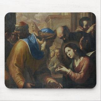 Cristo que disputa con los doctores, c.1660 alfombrilla de ratón