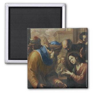 Cristo que disputa con los doctores, c.1660 iman de frigorífico