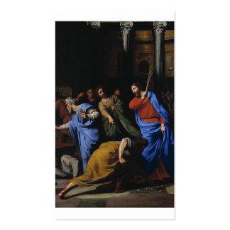 Cristo que expulsa los Dinero-Cambiadores Tarjeta De Visita