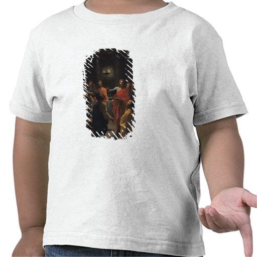 Cristo que instituye la eucaristía camisetas