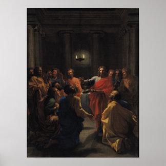 Cristo que instituye la eucaristía impresiones