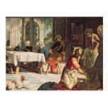 Cristo que lava a los pies de los discípulos 2 postales