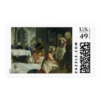 Cristo que lava los pies de los discípulos, c.1547 estampillas