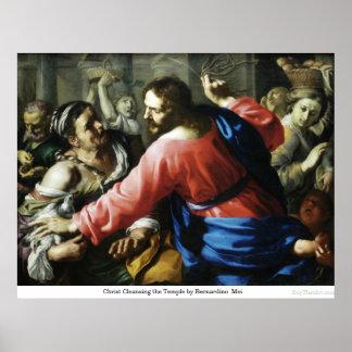 Cristo que limpia el templo de Bernardino Mei Posters