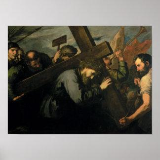Cristo que lleva la cruz, 1635 póster