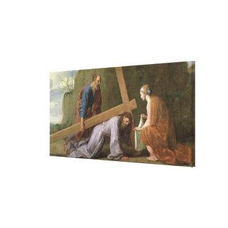 Cristo que lleva la cruz, c.1651 impresión en tela