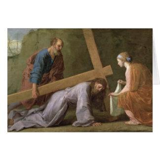 Cristo que lleva la cruz, c.1651 tarjeta de felicitación