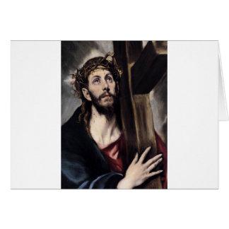 Cristo que lleva la cruz circa 1580 felicitacion