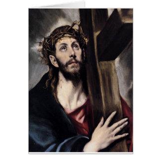 Cristo que lleva la cruz circa 1580 tarjetas