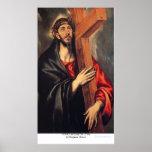 Cristo que lleva la cruz de Eugene Greco Poster
