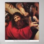 Cristo que lleva la cruz de Lorenzo Lotto Impresiones