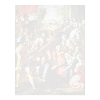 Cristo que lleva la cruz de Raffaello Sanzio ( Membrete