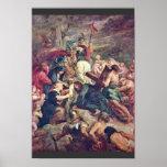 Cristo que lleva la cruz de Rubens Peter Paul Póster