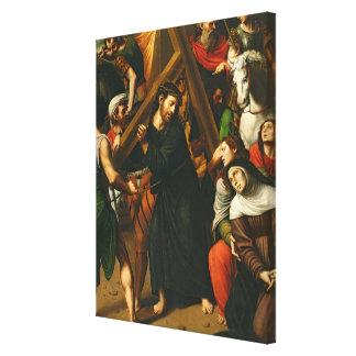 Cristo que lleva la cruz impresiones en lona
