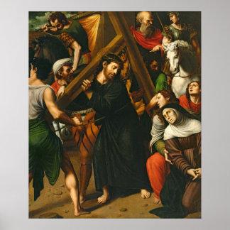 Cristo que lleva la cruz impresiones