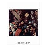 Cristo que lleva la cruz. Por Hieronymus Bosch Postales