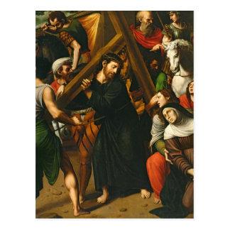 Cristo que lleva la cruz postales