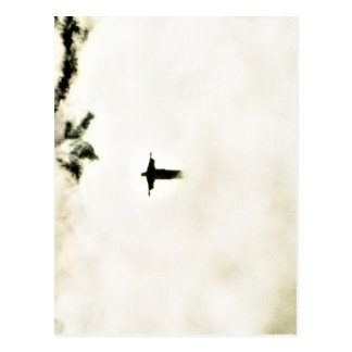 Cristo Redentor en las nubes Postal