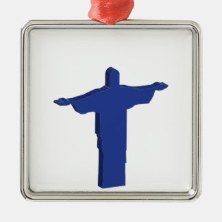 Cristo Redentor extrusion Metal Ornament
