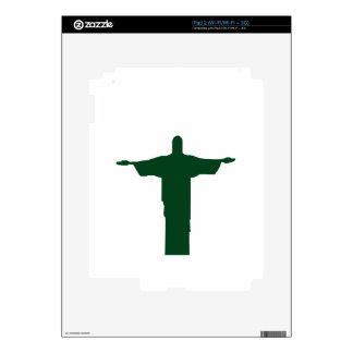 Cristo Redentor_green iPad 2 Decal