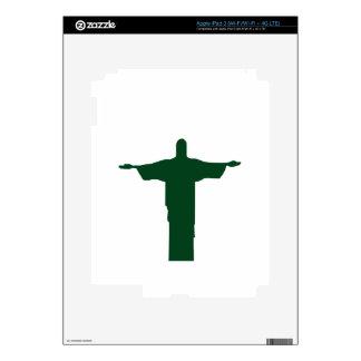 Cristo Redentor_green iPad 3 Decal