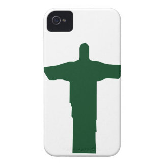 Cristo Redentor_green iPhone 4 Case-Mate Case