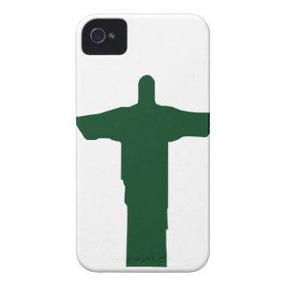 Cristo Redentor_green iPhone 4 Case-Mate Case