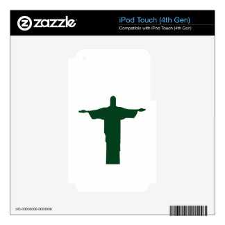 Cristo Redentor_green iPod Touch 4G Decals
