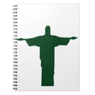 Cristo Redentor_green Notebook
