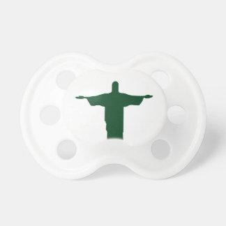 Cristo Redentor_green Pacifier