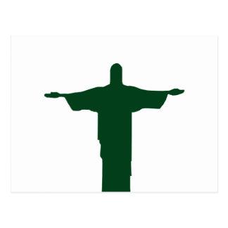 Cristo Redentor_green Postcard