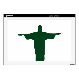 "Cristo Redentor_green Skin For 17"" Laptop"
