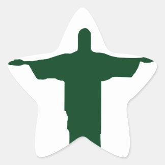 Cristo Redentor_green Star Sticker