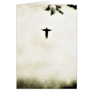 Cristo Redentor In the Clouds Card