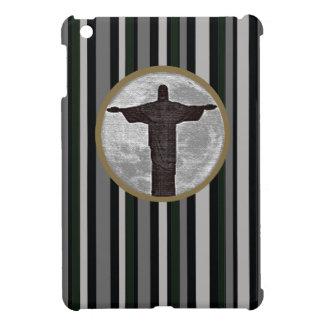 cristo redentor, moon, stripes iPad mini cover