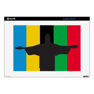 """Cristo Redentor_olimpic Decals For 15"""" Laptops"""