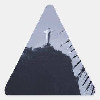 Cristo Redentor Pegatina Triangular