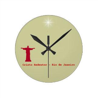 Cristo Redentor ~ rio de janeiro . brasil Clock