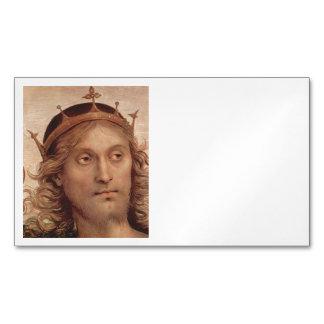 Cristo resucitado en corona de oro tarjetas de visita magnéticas (paquete de 25)