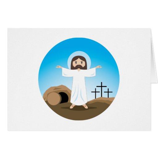 Cristo subido tarjeta de felicitación