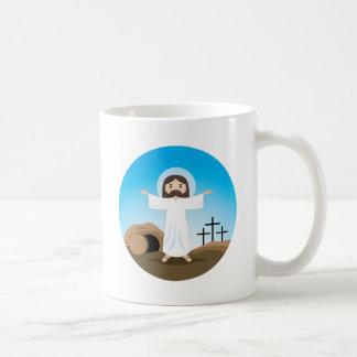 Cristo subido taza básica blanca